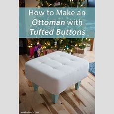 Diy Ottoman With Tufted Buttons Tutorial  How To Make An Ottoman