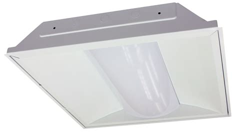3 l 2 indirect recessed troffer fixture 2x2 ld green