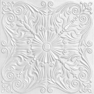 Spanish Silver Styrofoam Ceiling Tile 20 In X 20 In