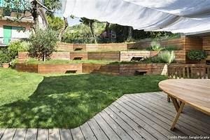 amenagement jardin pente conseils accueil design et mobilier With jardin en pente amenagement