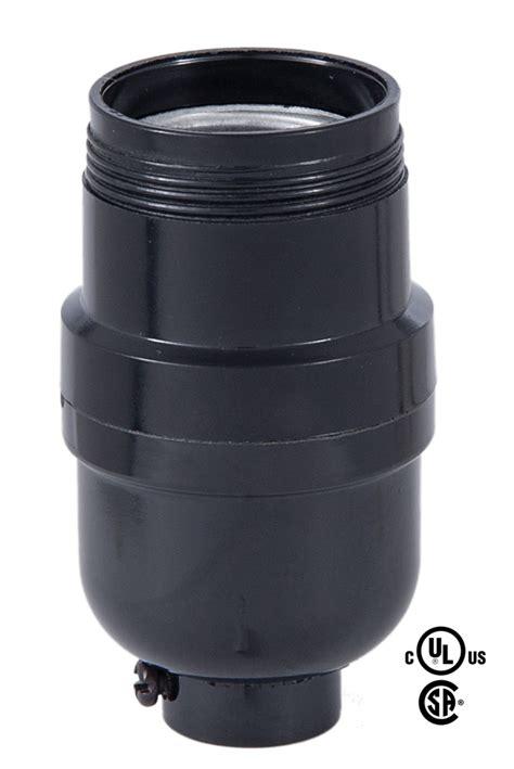 uno socket l base e26 tall keyless black plastic socket with uno threads