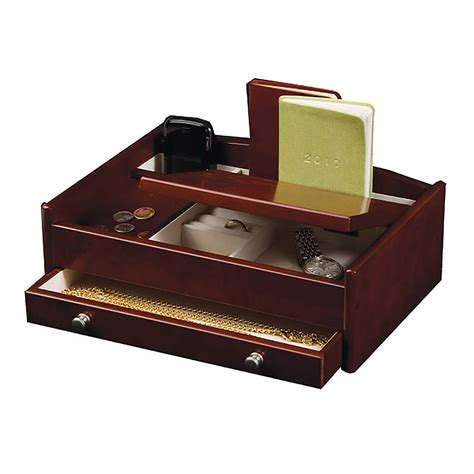 mens leather valet tray desk tidy wooden desk tidy with jewellery storage by jodie byrne