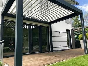 überdachung Balkon Selber Bauen : lamellendach einfach optimaler sonnen und wetterschutz mit der bioclimatischen pergola b200 ~ Frokenaadalensverden.com Haus und Dekorationen
