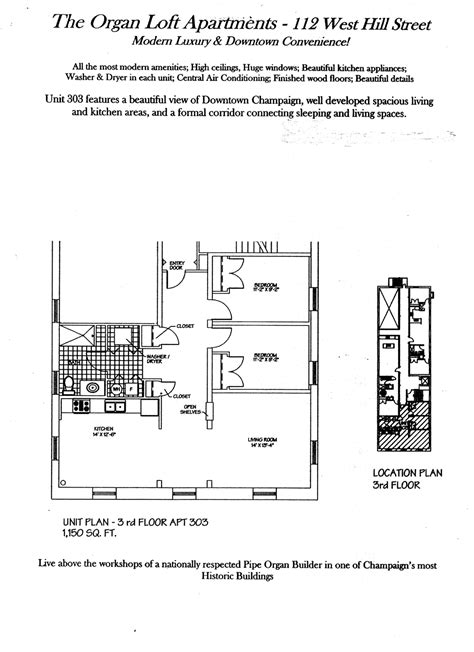 Floor plans | Organ Loft Apartments