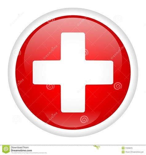 le bureau croix blanche croix blanche sur le bouton illustration de vecteur