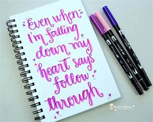 lettering lyrics by jennie garcia tombow dual brush pen With brush lettering pens michaels