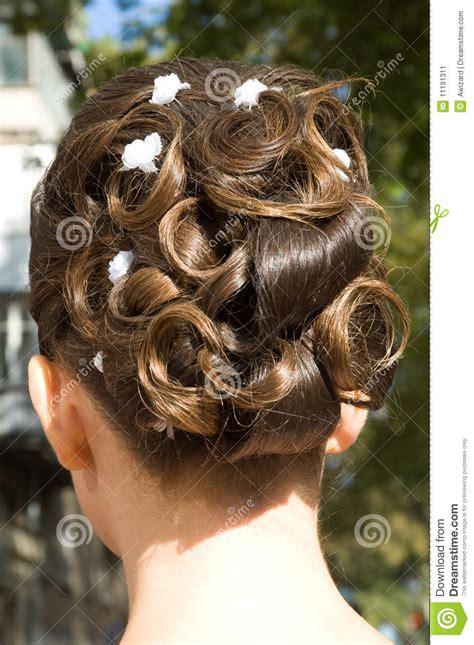 wedding hair style stock image image