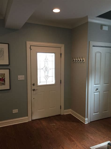entryway painted benjamin moore beach glass and revere