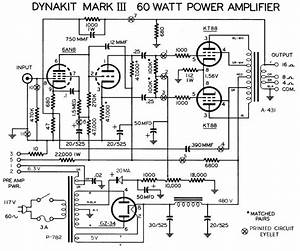 Dynaco Dynakit Mark Iii Tube Amplifier Schematic  With