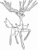 Pokemon Coloring Xerneas Legendary Yveltal Wolve Coloriage Deviantart Kleurplaten Kleurplaat Unique Pokeball Ash Lesson Colorare Greninja Hoofd Gray Drawings sketch template