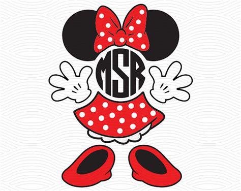 minnie mouse monogram minnie mouse monogram set svg eps dxf studio3 mouse ears