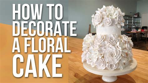 decorate  white floral cake cake tutorials youtube