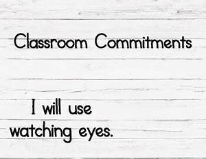 Conscious Discipline Commitment Chart Classroom Commitment Chart By Connected N Sped Tpt