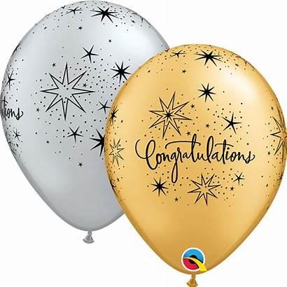 Balloons Congratulations Elegant Gold Silver Balloon Latex
