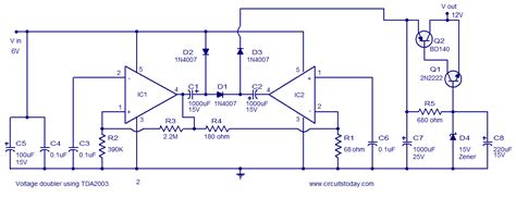 Voltage Converter Circuit Using Tda Diagram World