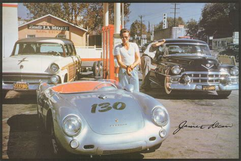poster actor james dean  gas station