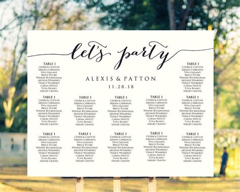 easy  create   personalized wedding seating