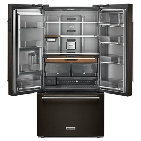 Kitchenaid Fridge Maker Troubleshoot by Kitchenaid Counter Depth Door Black Stainless Steel