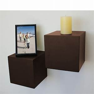 Espresso, Block, Floating, Shelf, 150x150x150mm
