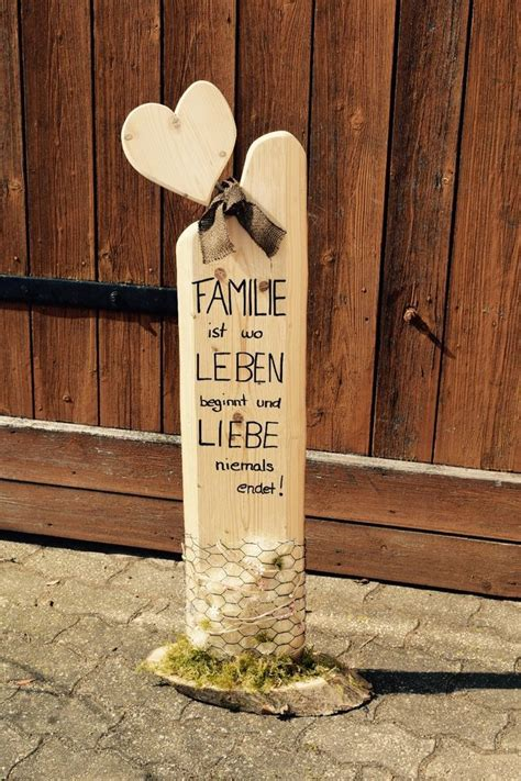 Holz Deko Draußen by Deko Holz S 228 Ule Accessoires Familie Liebe