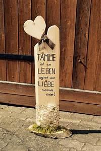 Säulen Aus Holz : deko holz s ule accessoires familie liebe handgemacht in m bel wohnen dekoration ~ Orissabook.com Haus und Dekorationen