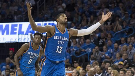 paul george scores   thunder top clippers