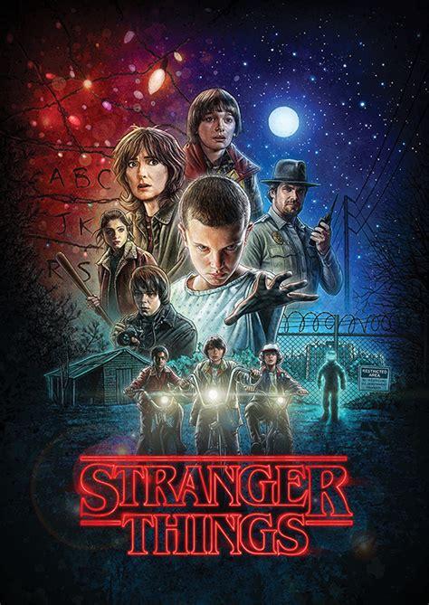 """Вайнона райдер, дэвид харбор, финн вулфард и др. Плакат """"Очень странные дела"""" / Poster """"Stranger Things ..."""