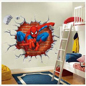 Diy superhero wall decor : Buy wholesale spider man d wallpapers from china