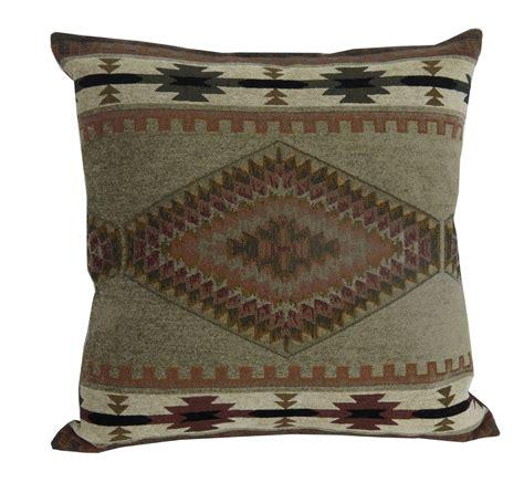 rustic throw pillows rustic throw pillow apache fabric