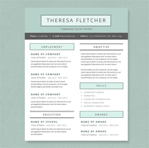 Creative Resume Packages by Chic Resume Template Package Resume Templates On