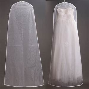 160cm soft tulle wedding dress bags clothes cover dust With garment bag for wedding dress