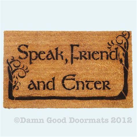 Lord Of The Rings Doormat by Tolkien Speak Friend And Enter Doormat