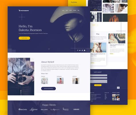 photography website template  psd  freepsdcc