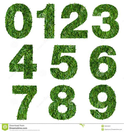 and numbers letter a made of grass stock numbers made of green grass stock image image 36324921