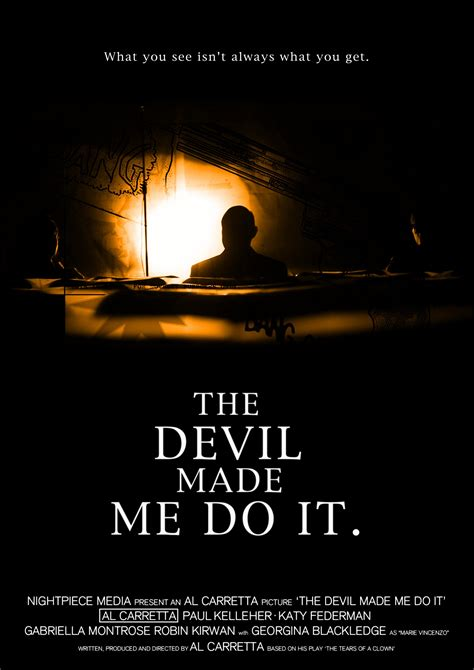 actor in the devil made me do it the devil made me do it mega sized movie poster image