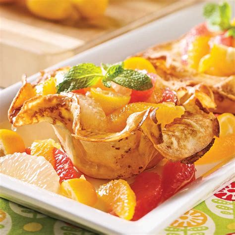 cuisine crepe méli mélo de fruits sur coupelles de crêpe recettes