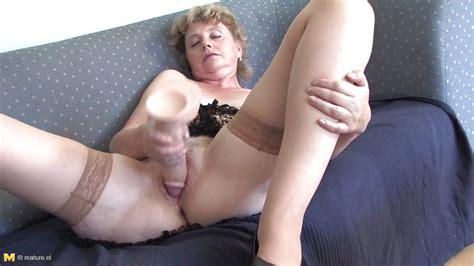 Stephani In Slutty Grandma Masturbating With A Big Dildo