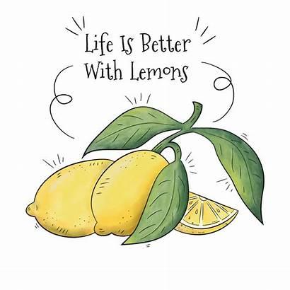 Lemons Fruit Background Quote Inspirational Vector Saying