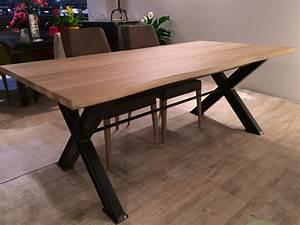 Pied De Table A Manger : table bois avec pied ipn ~ Teatrodelosmanantiales.com Idées de Décoration