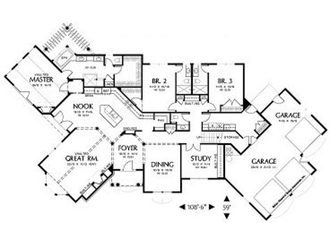 housing blueprints house floor plans with angled garage house floor plans