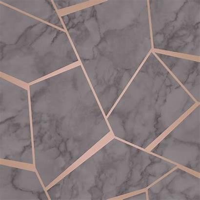 Marble Rose Gold Metallic Silver Geometric Copper