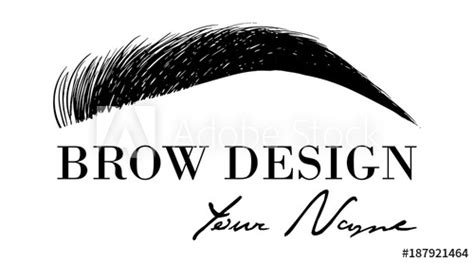 500x278 brow design logo business card template with hand drawing eyebrow 500x500 how to make ideal brow. Brow design logo business card template with hand drawing ...