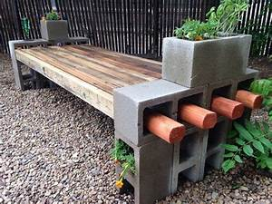 Holzmöbel Selber Bauen : gartenbank mit pflanzk beln aus beton selber bauen spielplatz pinterest pflanzk bel ~ Orissabook.com Haus und Dekorationen