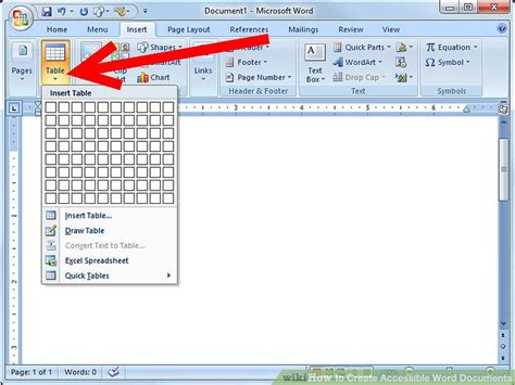 create accessible word documents  steps