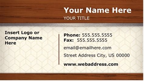 Downloadable Business Card Templates For Word by Free Business Card Template Microsoft Word