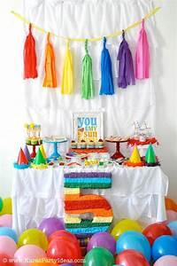 Kara's Party Ideas Rainbow Themed Birthday Party Kara's