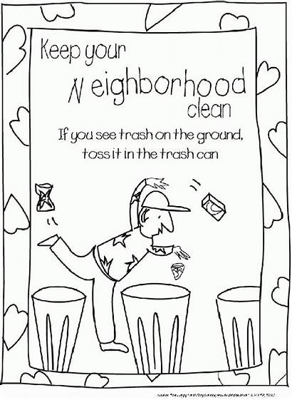 Coloring Sheets Litter Pages Sheet Earth Citizenship
