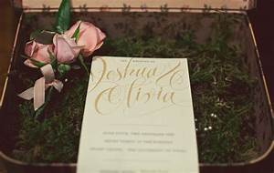 real wedding olivia joshua39s glamourous wedding green With wedding invitations with real flowers