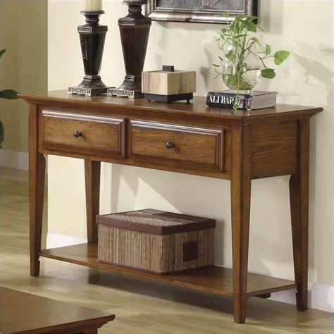 riverside furniture console table riverside furniture oak ridge sofa warm oak console table