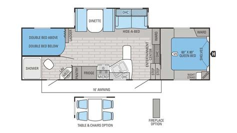 Jayco 5th Wheel Floor Plans by 2016 Jayco Eagle Ht 26 5bhs 5th Wheel Floor Plan